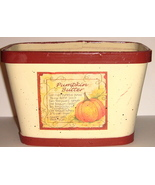 Cream Colored Wooden Basket w/ Pumpkin Butter Recipe - $9.00