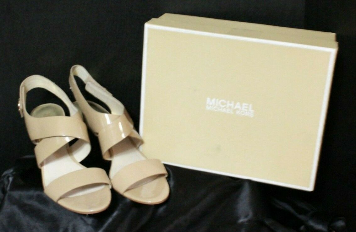 Primary image for Michael Michael Kors Joselle Open Toe Patent Leather Slingbacks