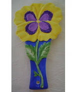Spoon Rest, Ceramic, Pansy, Flower Daze Collection - $9.00