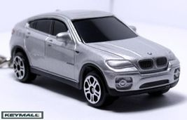Rare Porte Cle BMW X6 X-6 Series Argent/Silver 4x4 Key chain - $24.98