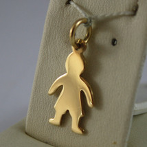 SOLID 18K YELLOW GOLD BOY PENDANT, BABY, LENGTH 0,91 IN MADE IN ITALY image 2