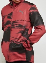 PUMA Nocturnal Energy Full Zip Red Reflective Jacket Size M, L, 2XL - $59.99