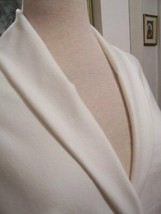 3yd FRENCH HEAVY SUIT WGT STRETCH FABRIC PONTE KNIT OFF WHITE - $60.00