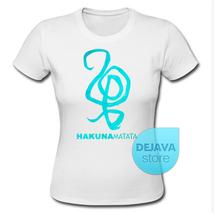 Hakuna Matata Symbol T-Shirt Women 100% Cotton Gildan Quality T Shirt - $17.85