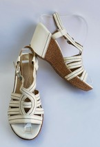 Naturalizer Shoes Sandals White Wedge Naza Womens Size 7.5 M - $44.50