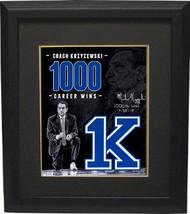 Mike Krzyzewski signed Duke Blue Devils Tribute 16x20 Photo Custom Frame... - $319.95