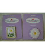 Magnets, Set of 2, Ceramic Daisies - $6.00