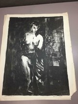 "Signed Francis Chapin Vintage Mid Century Modern ""Nude with Mirror"" Ink ... - $247.50"