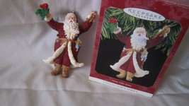 Vintage HALLMARK KEEPSAKE ORNAMENT Merry Olde Santa Collectors Series 9 ... - $14.01