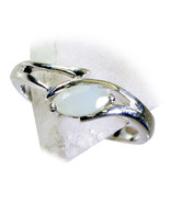 Natural Aqua Chalcedony Ring Round Cut 925 Sterling Silver Ring Sizes 4 ... - €21,96 EUR