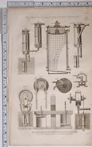 1795 ORIGINAL PRINT WALLS PATENT STEAM ENGINE VARIOUS APPARATUS EQUIPMENT - $120.37