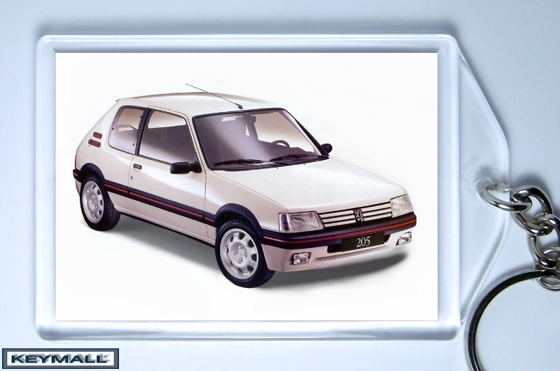 ancien model porte cl cl s peugeot 205 gti blanc keychains. Black Bedroom Furniture Sets. Home Design Ideas