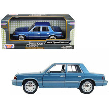 1983 Plymouth Reliant Blue 1/24 Diecast Model Car by Motormax 73336bl - $34.69