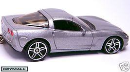05/2006/2007/2008/09 SILVER CHEVY CORVETTE C6 KEY CHAIN - $34.98