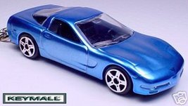KEYCHAIN 97~1998~2004 BLUE CHEVY CORVETTE C5 KE... - $19.98