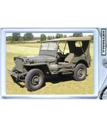 KEY CHAIN RING JEEP WILLYS TOP USMC/ARMY WW2 GPW KEYTAG - $9.95