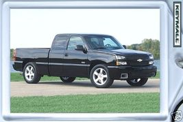 KEY CHAIN NICE BLACK CHEVY SILVERADO 1500 SS KEYTAG FOB - $9.95