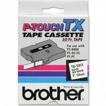 "Brother OEM TX2511 Black on White Tape (1"") - $44.98"