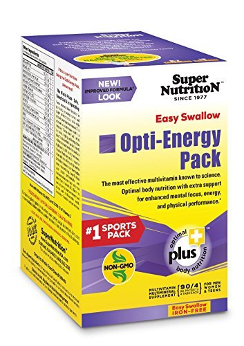 SuperNutrition EZ Swallow Opti-Energy Iron-Free Multivitamin, 90 Day Supply; Bes