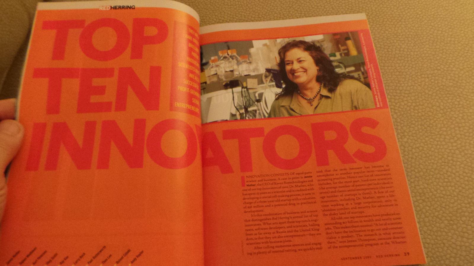 Red Herring Magazine Top 10 Innovators; Digital Entertainment; Mark Warner 2002