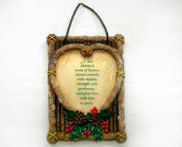 Enesco Plaque for Dad in Rustic Lodge Style - $9.99