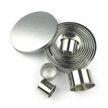 Fruit Cookie Cutter Mold Round Shape Box Design Stainless Steel Biscuit ... - $18.99