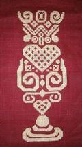 Tribal Daiquiri monochrome cross stitch chart White Willow Stitching - $7.20