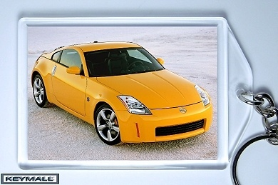 KEY CHAIN 2006/2007/2008/2009 YELLOW NISSAN 350Z KEYTAG