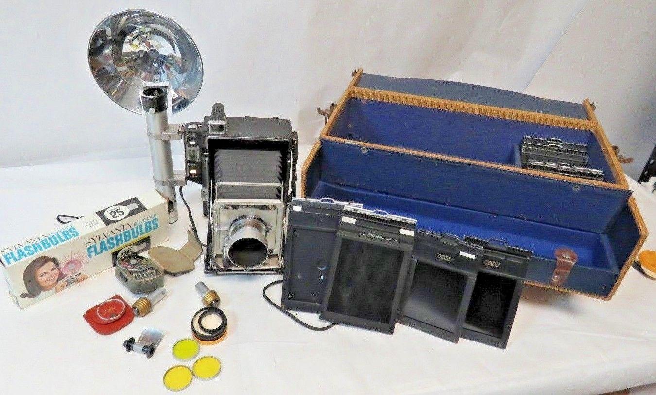 Graflex Crown Graphic 4x5 Film Press Camera and 21 similar items