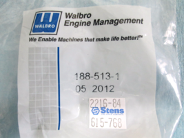 615-768, Stens, 188-513-1, Walbro, Primer Bulb - $4.49
