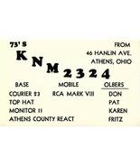 Vintage QSL Postcard  KNM 2324  Athens, Ohio   Don Pat Karen Fritz Olber... - $22.05
