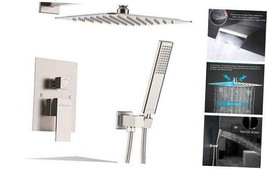 Shower System with Waterfall Tub Spout Shower Faucet Set with 12 Inch R... - $507.14
