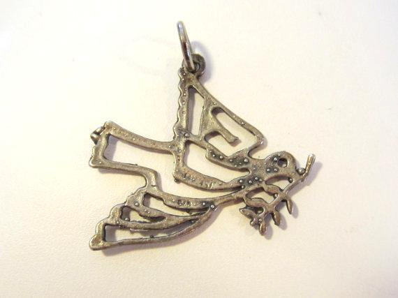 Sterling silver 925 Bird pendant