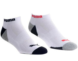 Puma Men's 6 Pack Low Cut Cushioned Sport Athletic Gym Moisture Control Socks image 3