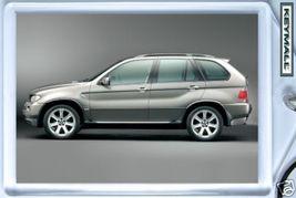 KEY CHAIN SILVER GRAY/GREY BMW X5 5 SERIES 4X4 KEYTAG ! - $9.95