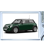 KEY CHAIN GREEN/WHITE TOP & STRIPES MINI COOPER KEYTAG - $9.95