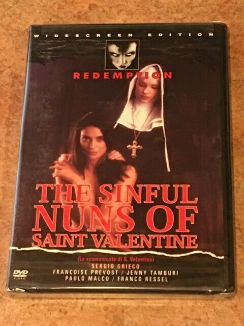 The Sinful Nuns of Saint Valentine (DVD) BRAND NEW / FACTORY SEALED *RARE OOP*