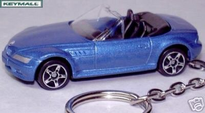 KEY CHAIN Z3 BLUE BMW Z-3 M ROADSTER/CABRIOLET FOB/TAG