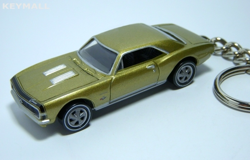 KEY CHAIN 1967~1968 GOLD CHEVY CAMARO SS 67~68 RING FOB