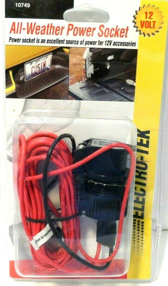 Primary image for 12-Volt All Weather Power Socket 10749 New by electro-tek Sealed!