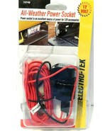 12-Volt All Weather Power Socket 10749 New by electro-tek Sealed! - $7.83
