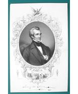 JAMES POLK President - 1856 Portrait Print Ornamental Border - $16.20