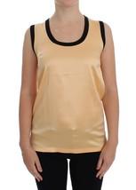 Dolce & Gabbana Yellow Silk Stretch Top Blouse T-shirt - $150.00