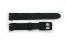 12mm Ladies Black Soft PVC Replacement Watch Band Compatible With SWATCH... - $9.95