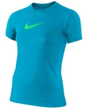 Nike Girls' Dri Fit Legend Swoosh T-Shirt,  Blue Size S - $13.85