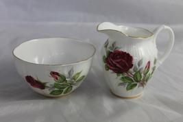 Vintage Royal Albert China Cream & Sugar Royal Canadian Rose - $40.00