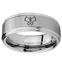 Monarch 8mm Step Edges Tungsten Carbide Wedding Band Ring - $43.99