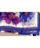 Vintage Halston Silk Chiffon Square Scarf Periwinkle Orchid  - $30.00