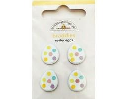 Doodlebug Design Glittered Easter Egg Braddies (Brads) #2048