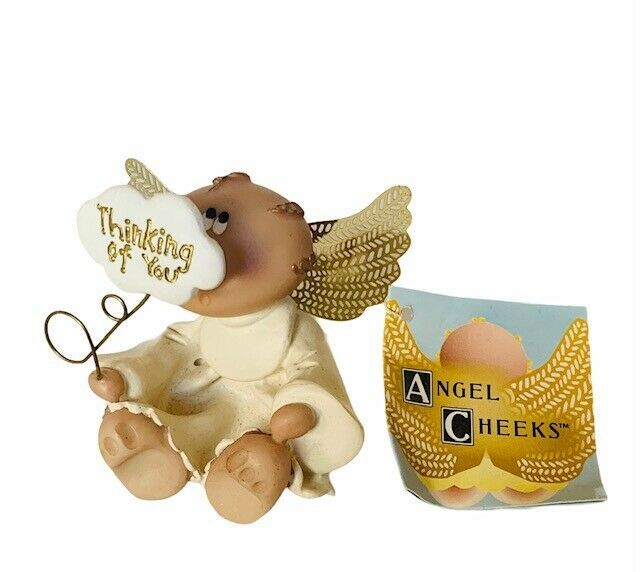 Angel Cheeks Figurine Russ Berrie sculpture decor gift Thinking of you Valentine - $16.78